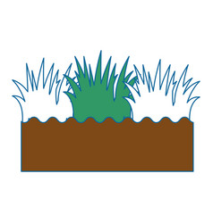 isolated field grass vector image vector image