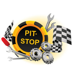 pit stop vector image vector image