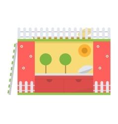 Sleeping bed vector image