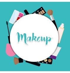 Womens make up and cosmetics vector image