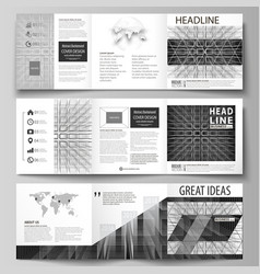 business templates for tri fold square design vector image