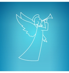 Christmas Angel on a Blue Background vector image vector image
