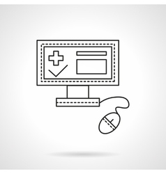 Hospital administration flat line icon vector image