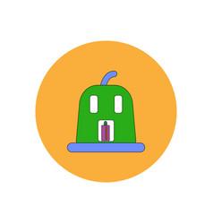 in flat design halloween icon vector image