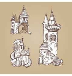 Medieval castles vector image vector image