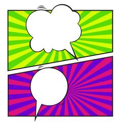 set of comic speech bubble cartoon vector image vector image