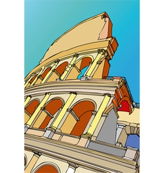 The Colosseum of Rome Rome Italy vector image