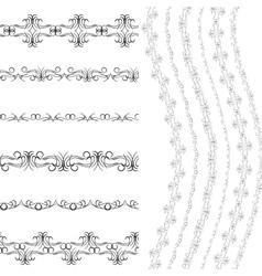 Vintage scrapbook design patterns black on white vector image vector image