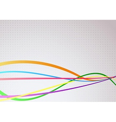 Abstract communicational colorful bright waves vector image vector image
