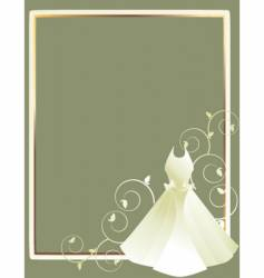 dress background vector image vector image
