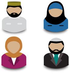muslim avatars vector image vector image