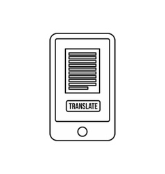 Translate application on a smartphone icon vector image vector image