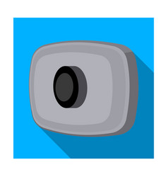 webcam icon in flat style isolated on white vector image vector image