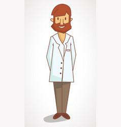 a cartoon flat drawing doctor vector image