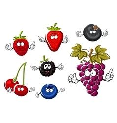 Assorted isolated fresh cartoon berries vector image vector image
