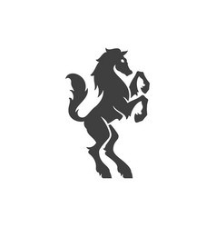 heraldic horse isolated on white background vector image