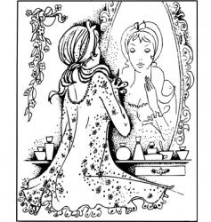 ladies's fashion vector image vector image