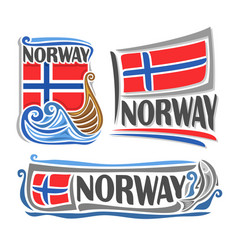 logo for norway vector image vector image