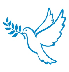 Peace Dove vector image vector image