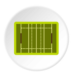 rugby sport field icon circle vector image vector image