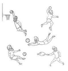 set of athlete different sports vector image vector image