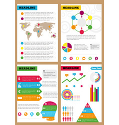 set of infographic leaflets prospects can be vector image vector image