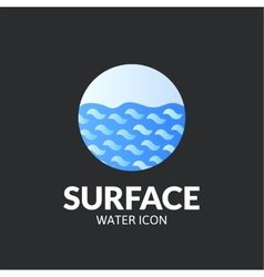Surface logo template vector image