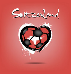 4527 - denmark heart soccer vector image