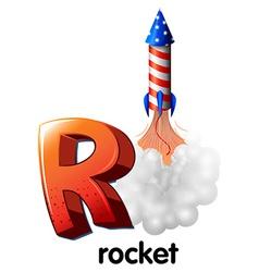 A letter R for rocket vector image