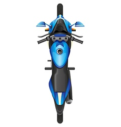 A topview of a blue scooter vector image