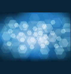 abstract white hexagon bokeh light blur vector image