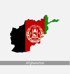 Afghanistan map flag vector