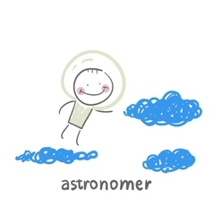 Astronomer flies in the stars vector