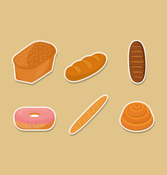 bakery products design vector image