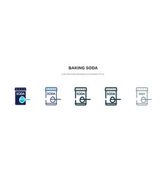 Baking soda icon in different style two colored vector