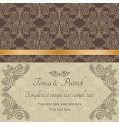 Baroque invitation brown vector image