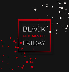 black friday discount sale promo banner design vector image