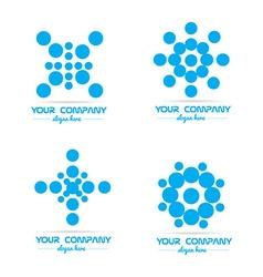 Blue circle bubble logo vector image