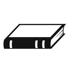 Book biology icon simple black style vector