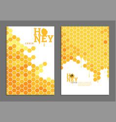 bright golden honey cover vector image