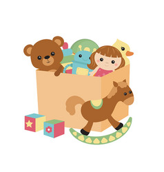 Children toy box children toy box vector