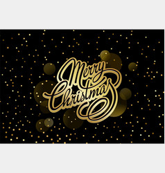 christmas card with text merry vector image