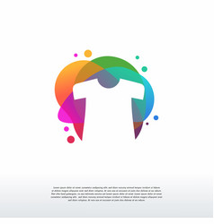 colorful shirt logo cloth fashion logo designs vector image