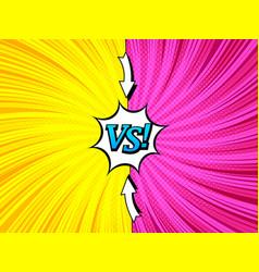comic bright duel concept vector image