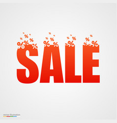 concept sale banner with percent vector image