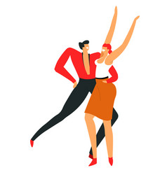 dancers performing salsa man and woman dancing vector image