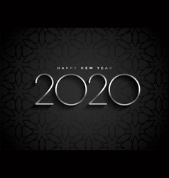 dark 2020 new year background with silver text vector image