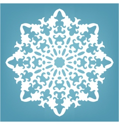 Decorative snowflake Christmas lace ornament vector