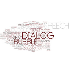 Dialog word cloud concept vector