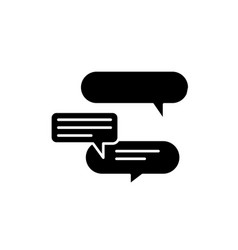 discussion black icon sign on isolated vector image